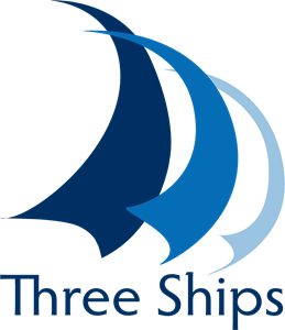 Three Ships e-learning solutions Logo Vector