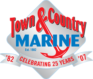 Town & Country Marine Logo Vector