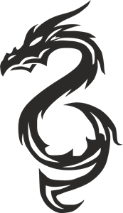 Triba Black Dragon Logo Vector
