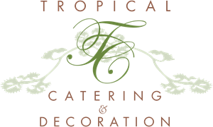 Tropical Catering & Decoration Logo Vector
