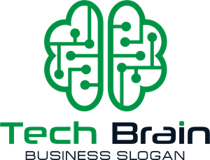 Technology Brain Logo Vector