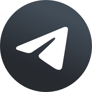 Telegram New 2019 Black X Logo Vector