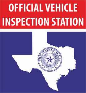 Texas Official Vehicle Inspection Station Logo Vector