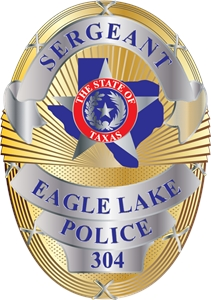 Texas Police Badge Logo Vector