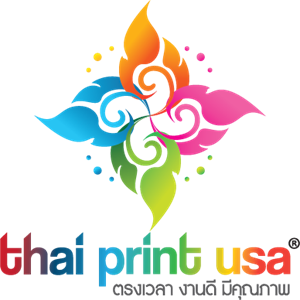 Thai Print USA Logo Vector