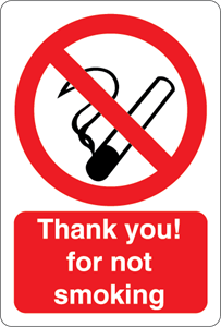 THANK YOU FOR NOT SMOKING Logo Vector