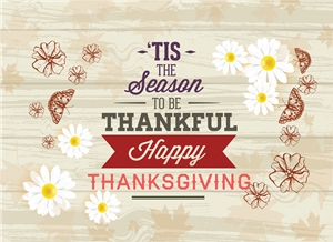thankful to be season happy thanksgiving day card Logo Vector