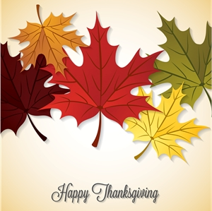 thanksgiving background maple leaf Logo Vector
