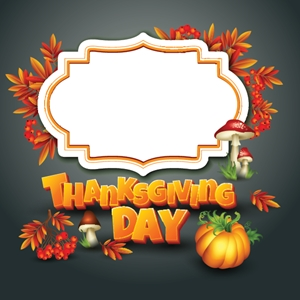 thanksgiving day art background Logo Vector