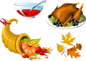 thanksgiving symbol set Logo Vector