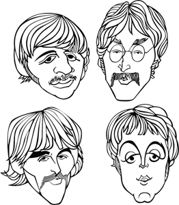 The Beatles band Logo Vector