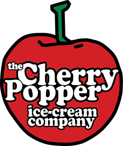 the Cherry Popper ice-cream company Logo Vector