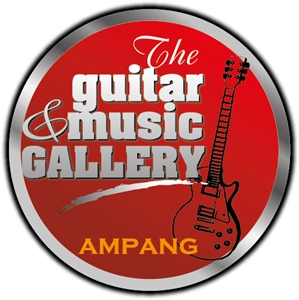 The Guitar & Music Gallery Logo Vector