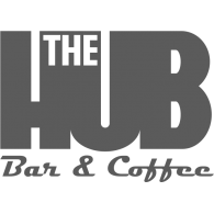 The HUB Bar & Coffee Logo Vector