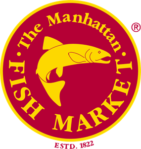 The Manhattan Fish Market Logo Vector
