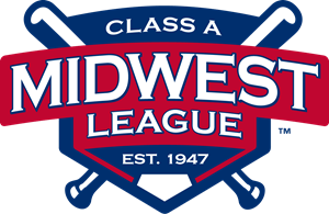 The Midwest League of Professional Baseball Clubs Logo Vector
