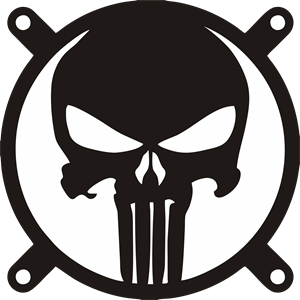 The Punisher Fangrill 120mm x 120mm Logo Vector