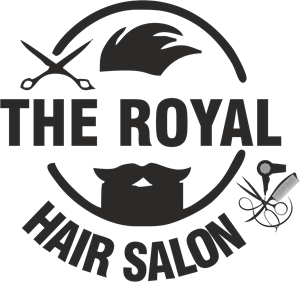 The Royal Hair Salon Logo Vector