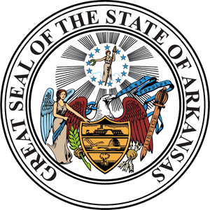 The seal of the state of Arkansas Logo Vector