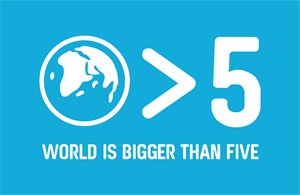 The World is Bigger Than Five Logo Vector