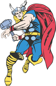 Thor Cartoon Logo Vector