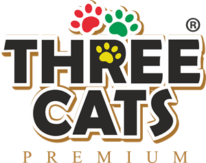 three Cats Logo Vector