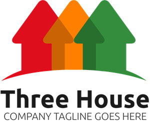 Three House Logo Vector