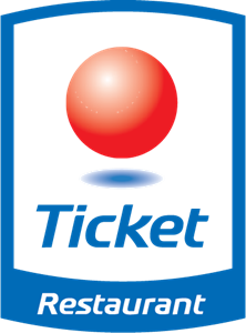 Ticket Restaurant Logo Vector