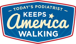 TODAY'S PODIATRIST KEEPS AMERICA WALKING Logo Vector