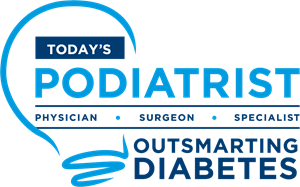 TODAY'S PODIATRIST OUTSMARTING DIABETES Logo Vector