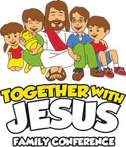 Together with Jesus Logo Vector