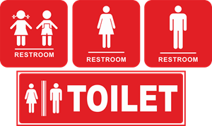 toilet or restroom Logo Vector