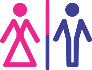 toilete man and woman Logo Vector