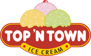 Top 'N' Town Ice Cream Logo Vector