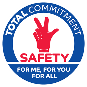 Total Commitment Safety for Me Logo Vector