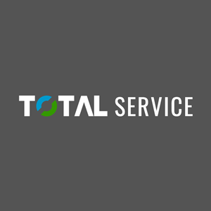 Total Service White Version Logo Vector