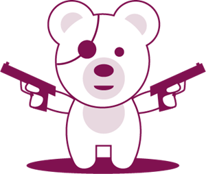 Tough Teddy Logo Vector