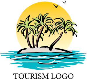 Tourism Beach Logo Vector