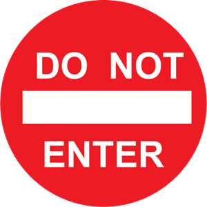 TRAFFIC SIGN DO NOT ENTER Logo Vector