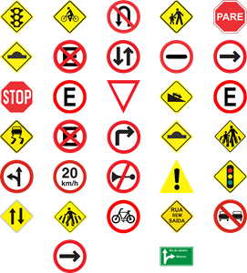 Traffic sign pack Logo Vector