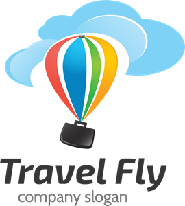 Travel fly Logo Vector