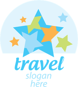 Travel Sea Star Logo Vector