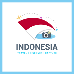 Travel to indonesia Logo Vector