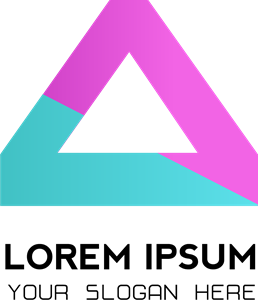 Triangle company dual color Logo Vector
