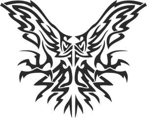 Tribal Eagle Logo Vector