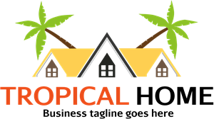 Tropical Home Logo Vector