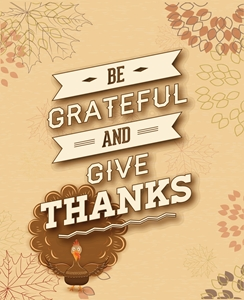 turkey bird be grateful give thanks poster Logo Vector