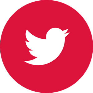 Twitter Red Canada Logo Vector