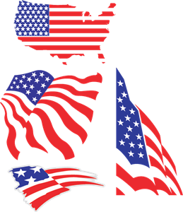 US flags Logo Vector