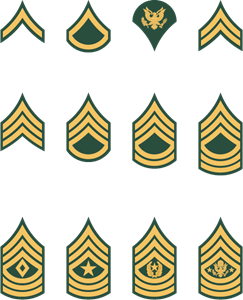 U. S. Army Enlisted Rank Insignia Logo Vector